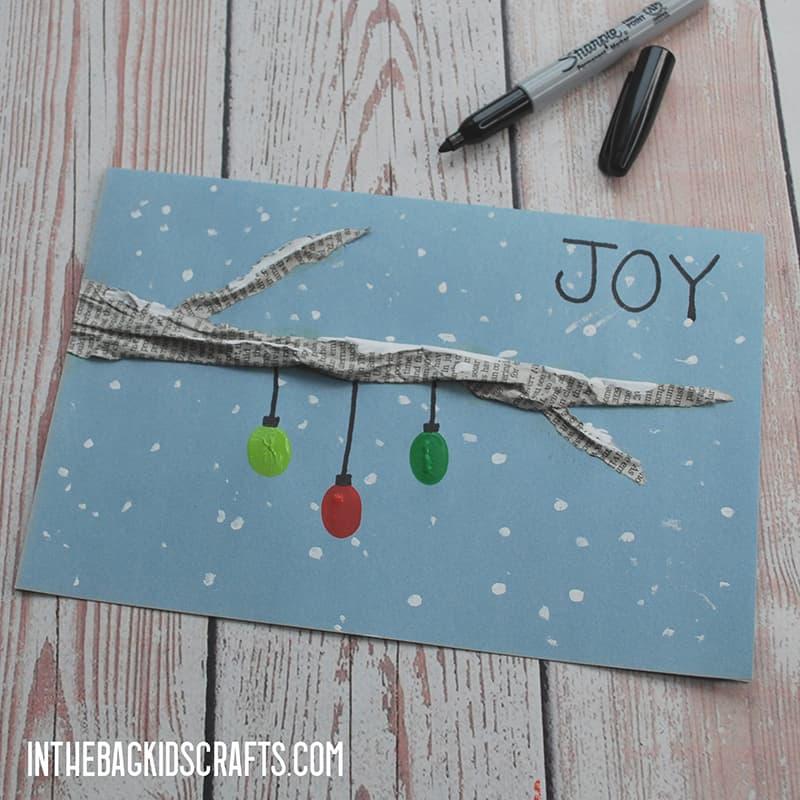 FINGERPRINT CHRISTMAS CARDS STEP 4