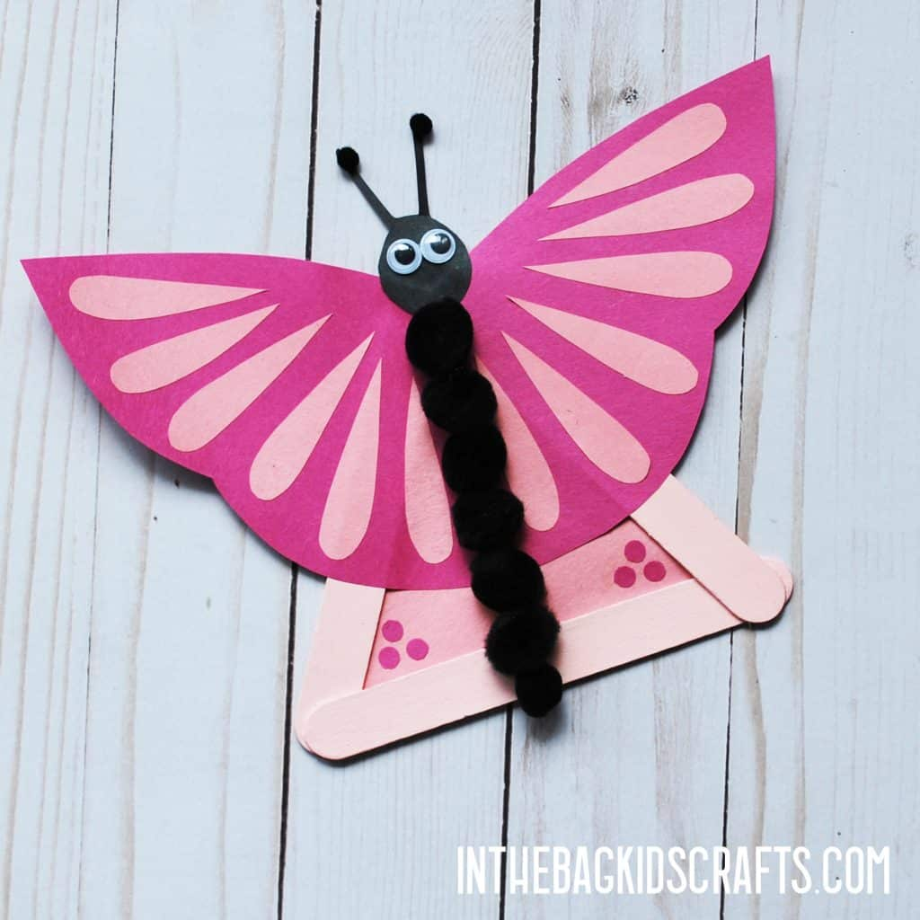 INSECT KIDS CRAFTS BUTTERFLY