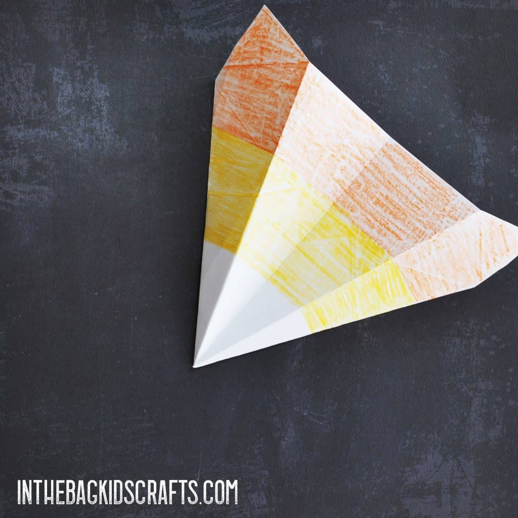 Candy Corn Paper Airplane
