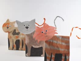 PAPER CAT CRAFT FOR KIDS