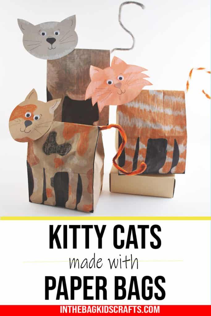 PAPER BAG CAT CRAFT FOR KIDS