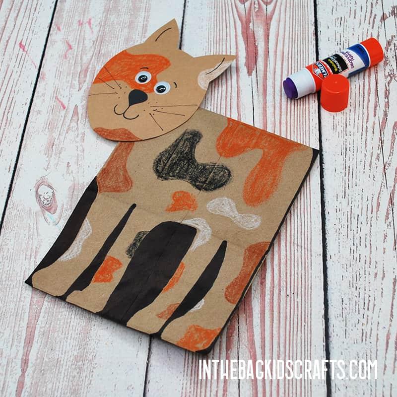 PAPER CAT CRAFT STEP 5