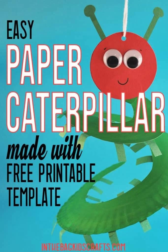 CATERPILLAR PAPER CRAFT FOR KIDS