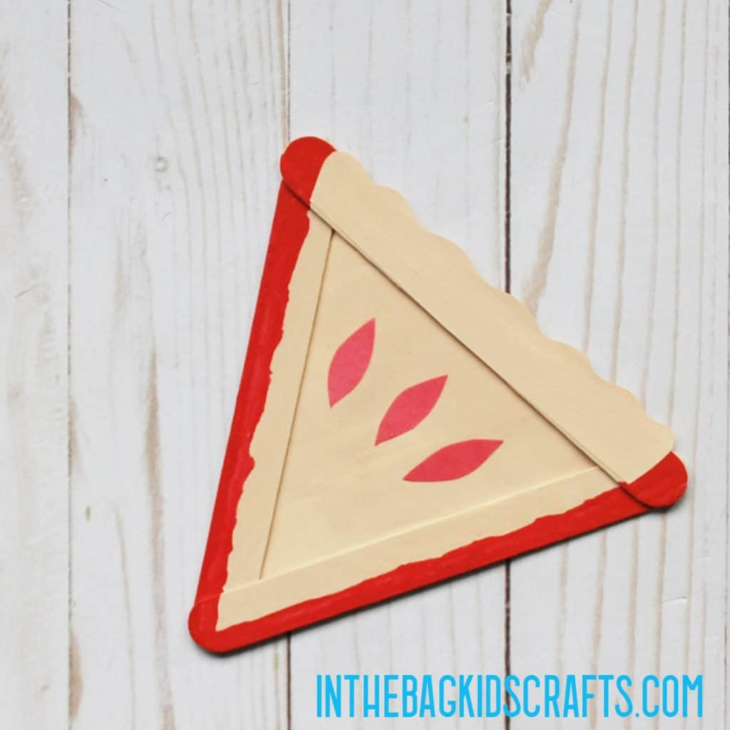 PAPER FOOD CRAFTS CHERRY PIE