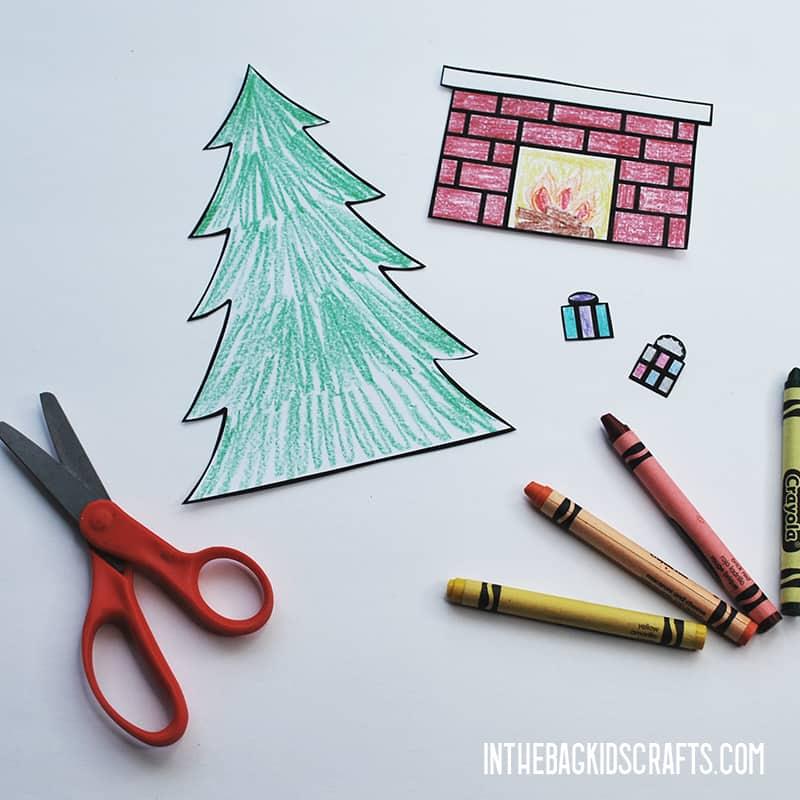 FREE PRINTABLE CHRISTMAS CRAFT STEP 2