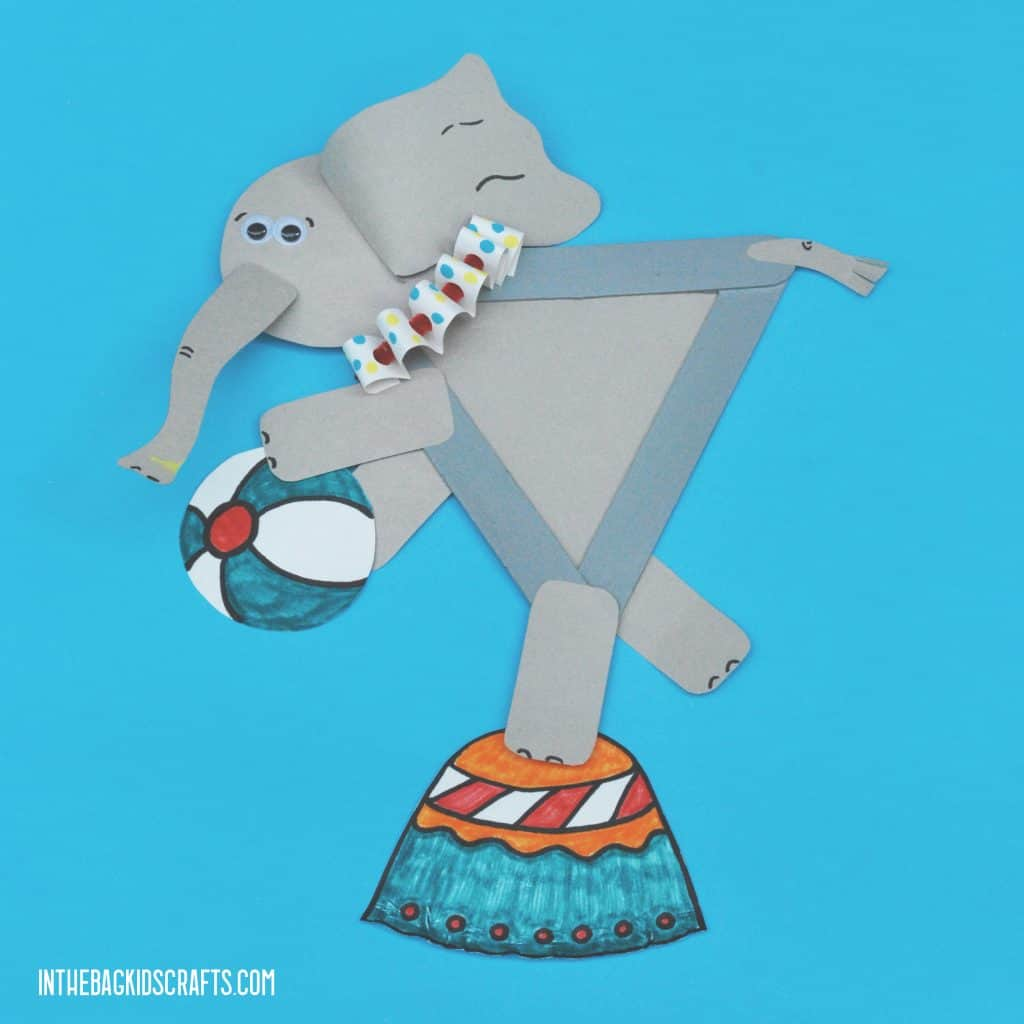 EASY CIRCUS CRAFT FOR KIDS ELEPHANT