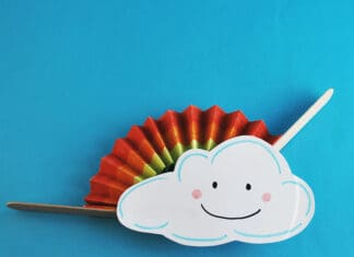 CLOUD CRAFT WITH RAINBOW FAN