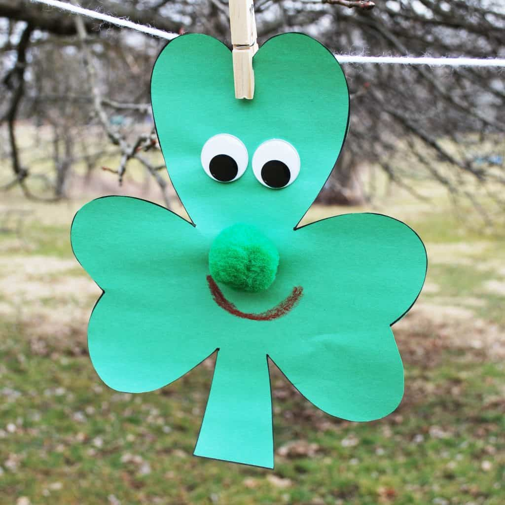 Decorated Lucky clover crafts