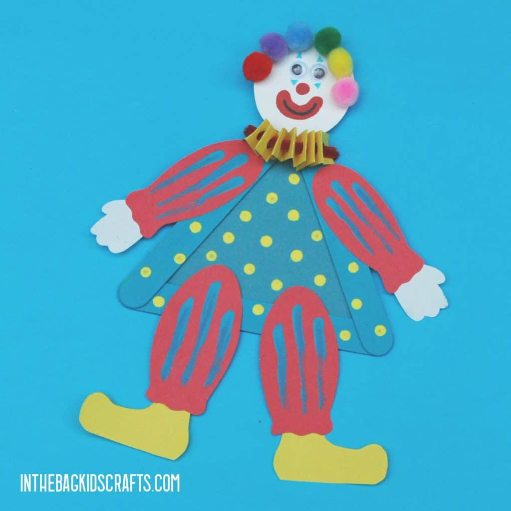 CIRCUS CLOWN CRAFT FOR KIDS