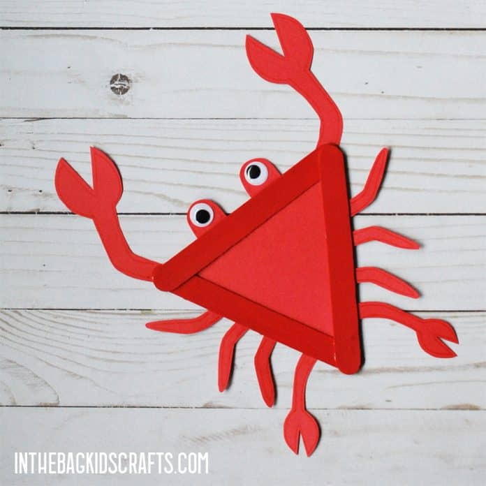 The claws even open and close. Crab Craft For Kids With Free Printable Template In The Bag Kids Crafts