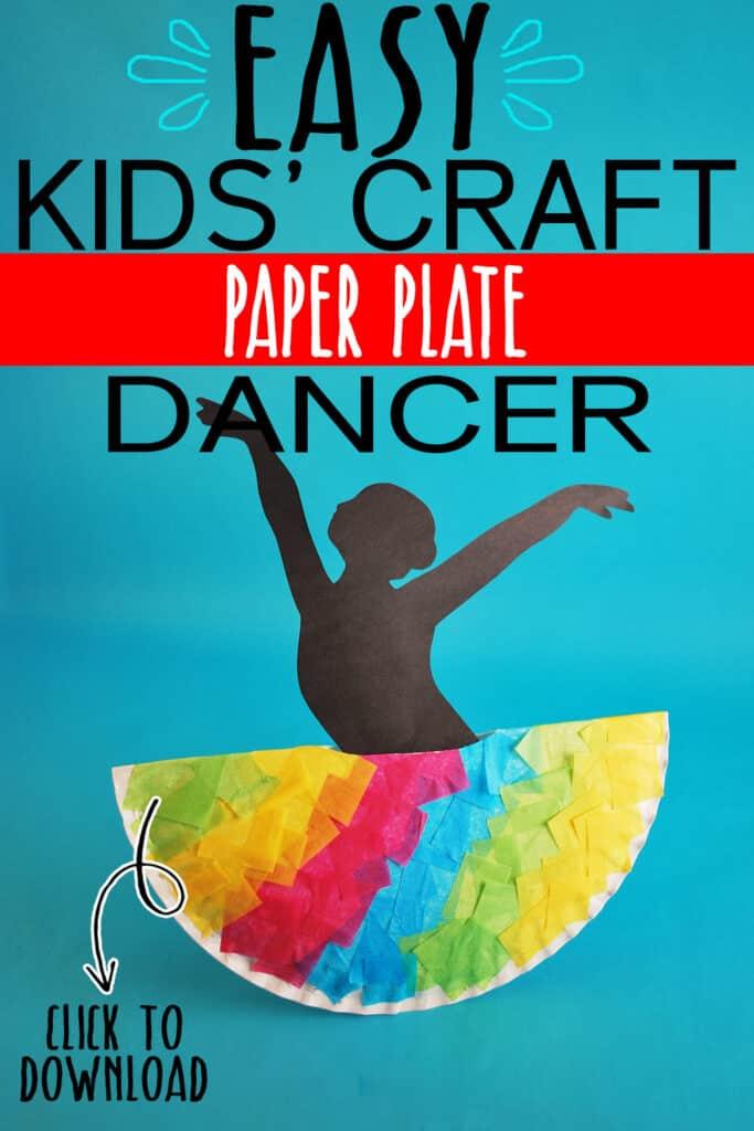PAPER PLATE DANCER CRAFT FOR KIDS