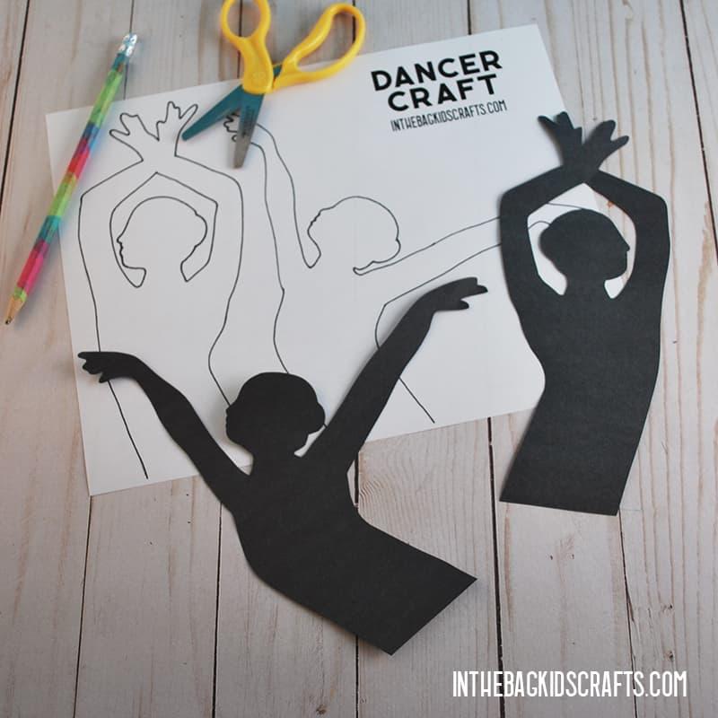 PAPER PLATE DANCER CRAFT STEP 3