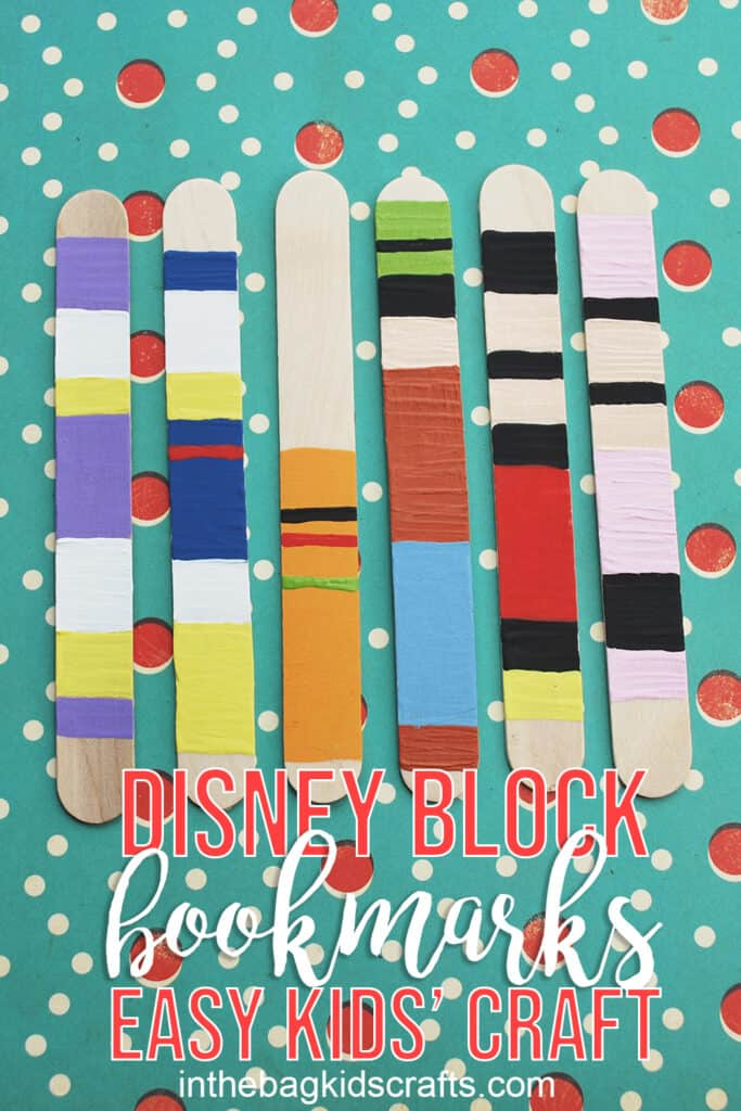 DISNEY POPSICLE STICK BOOKMARKS
