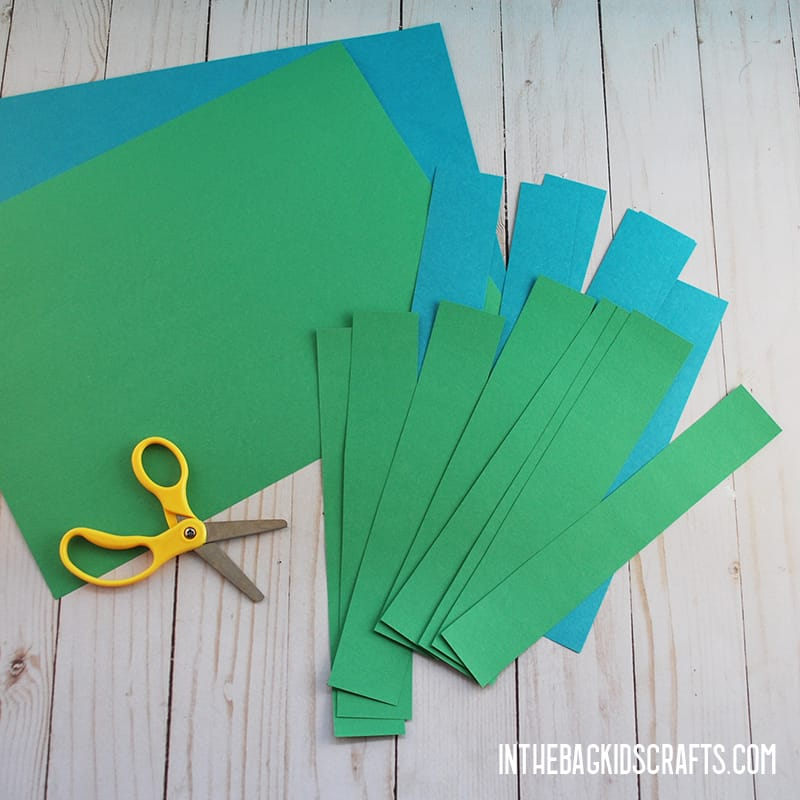 EARTH DAY ACTIVITIES PAPER CHAIN STEP 1