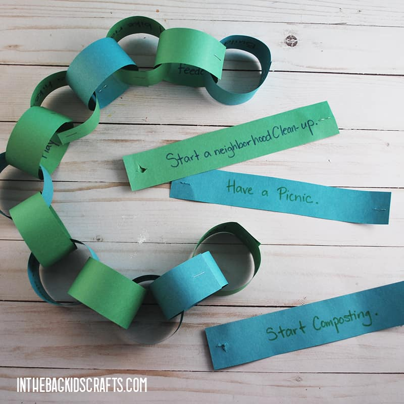 EARTH DAY ACTIVITIES PAPER CHAIN STEP 4
