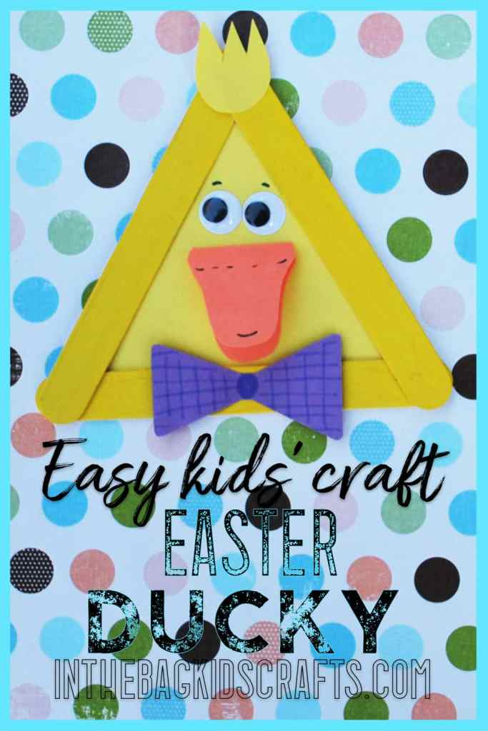 Easy Spring Craft Easter Duck