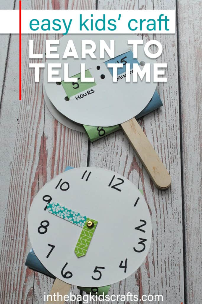 EASY TELLING TIME CRAFT