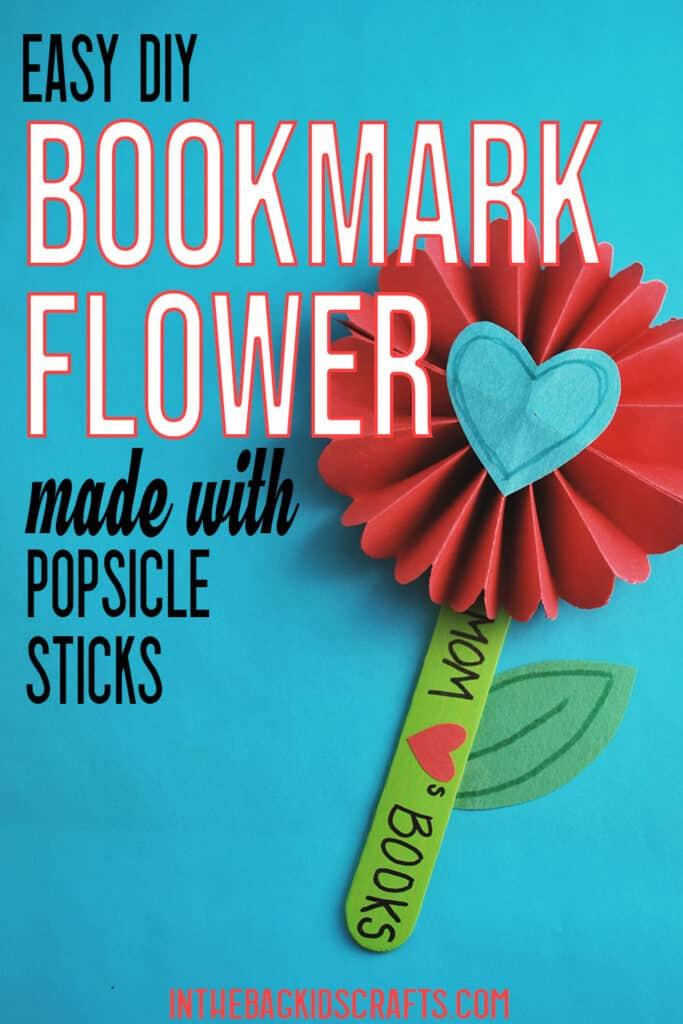 DIY BOOKMARK FLOWER DESIGN