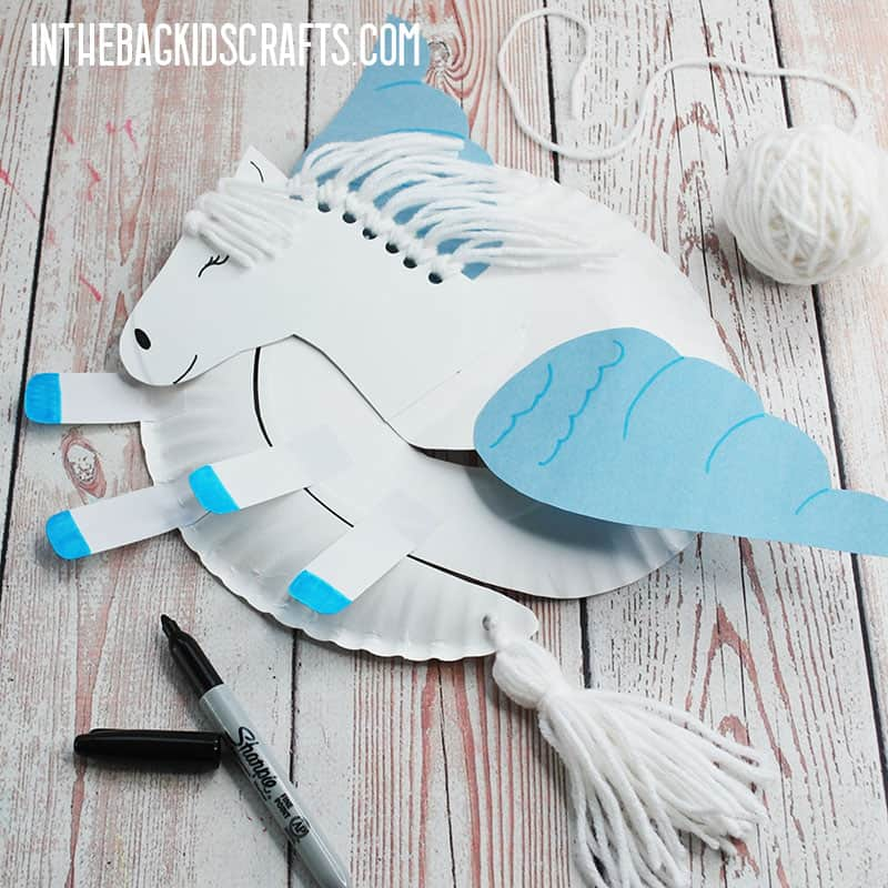 PAPER PLATE HORSE CRAFT STEP 7