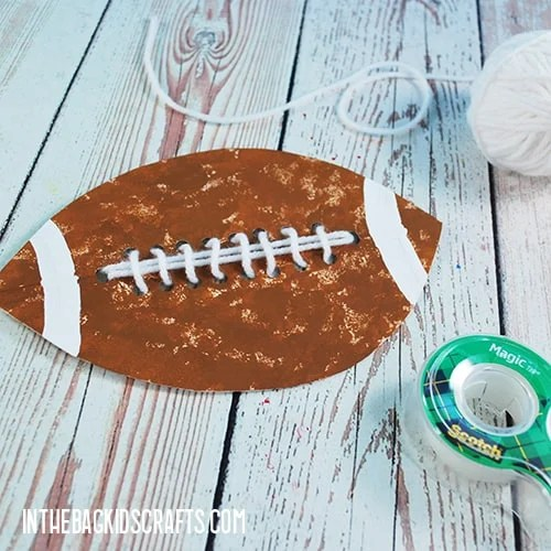 PAPER PLATE FOOTBALL CRAFT STEP 5