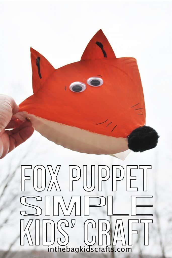 paper fox craft puppet
