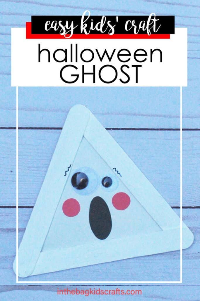HALLOWEEN GHOST CRAFT FOR KIDS