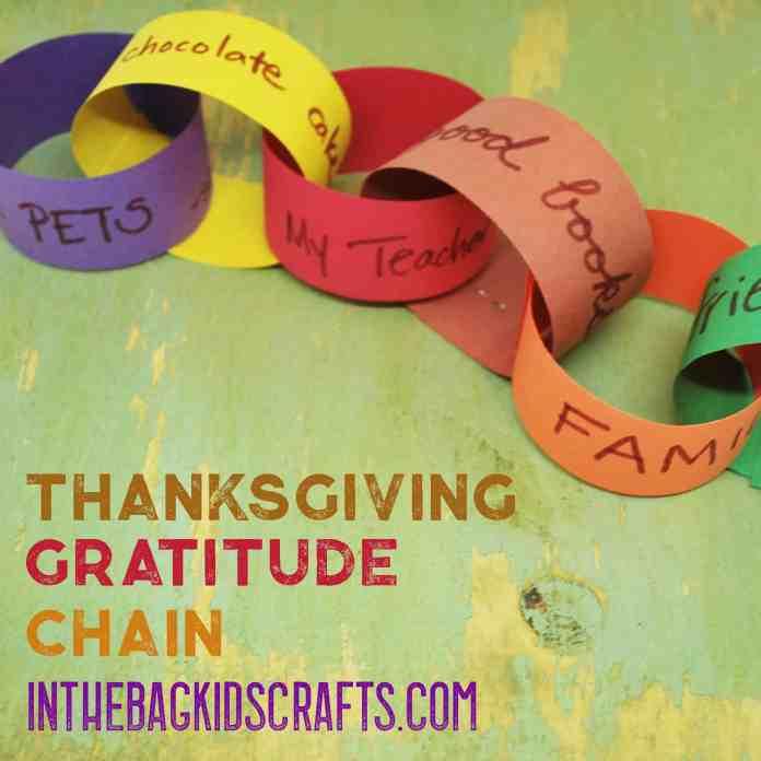 Thanksgiving Craft Gratitude Chain