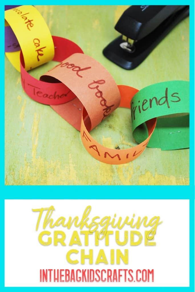 gratitude chain kids' craft
