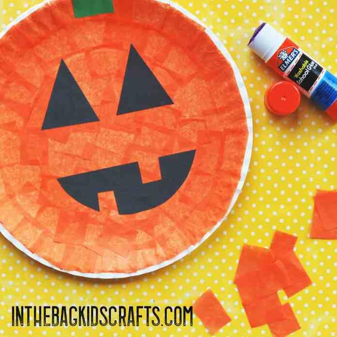 halloween paddle ball jack-o-lantern step 1