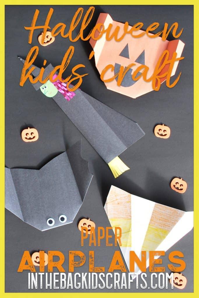 Halloween Kids' Activity Paper Airplanes
