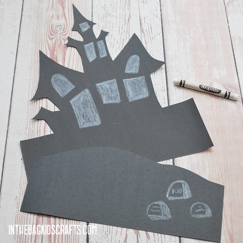 HAUNTED HOUSE CRAFT STEP 2