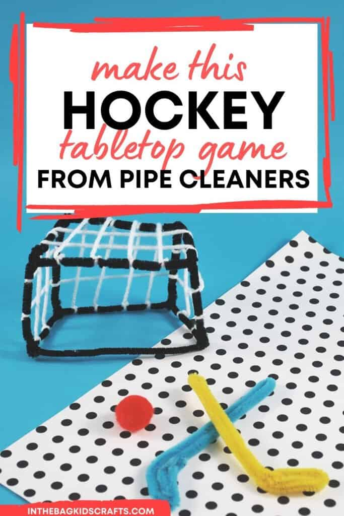 HOCKEY CRAFT AND GAME FOR KIDS