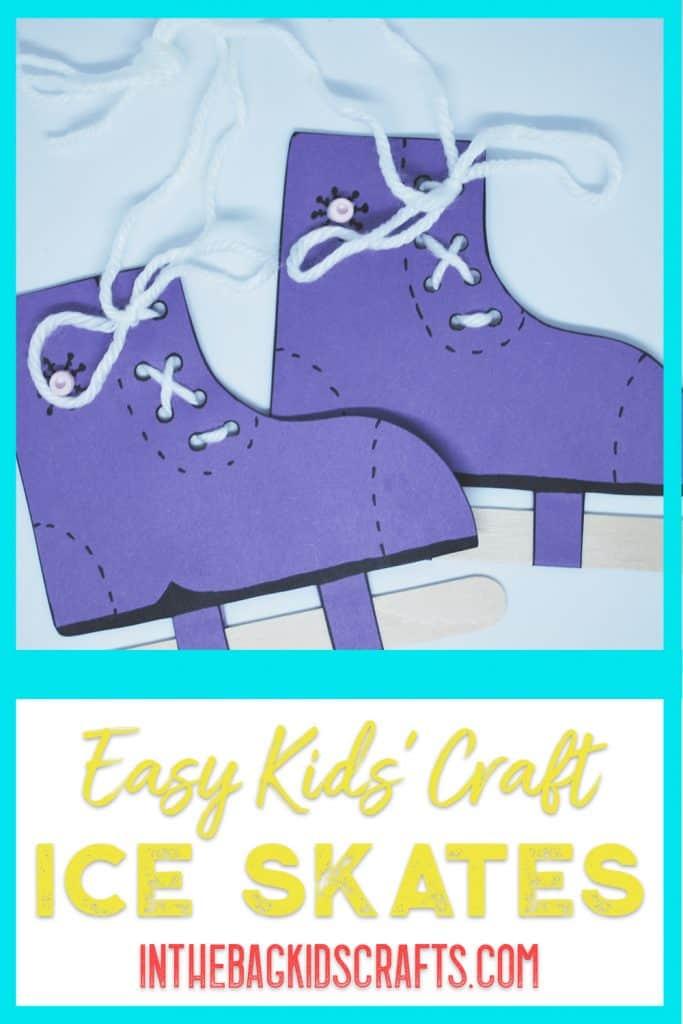 Easy Winter Ice Skate Craft for Kids