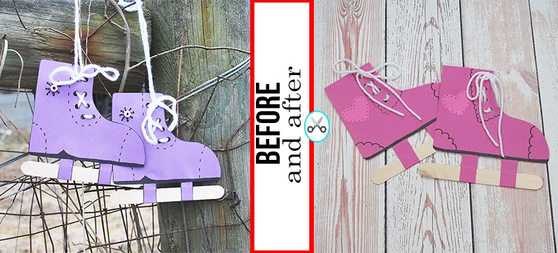 VALENTINE CRAFTS FOR KIDS ICE SKATES BEFORE AND AFTER