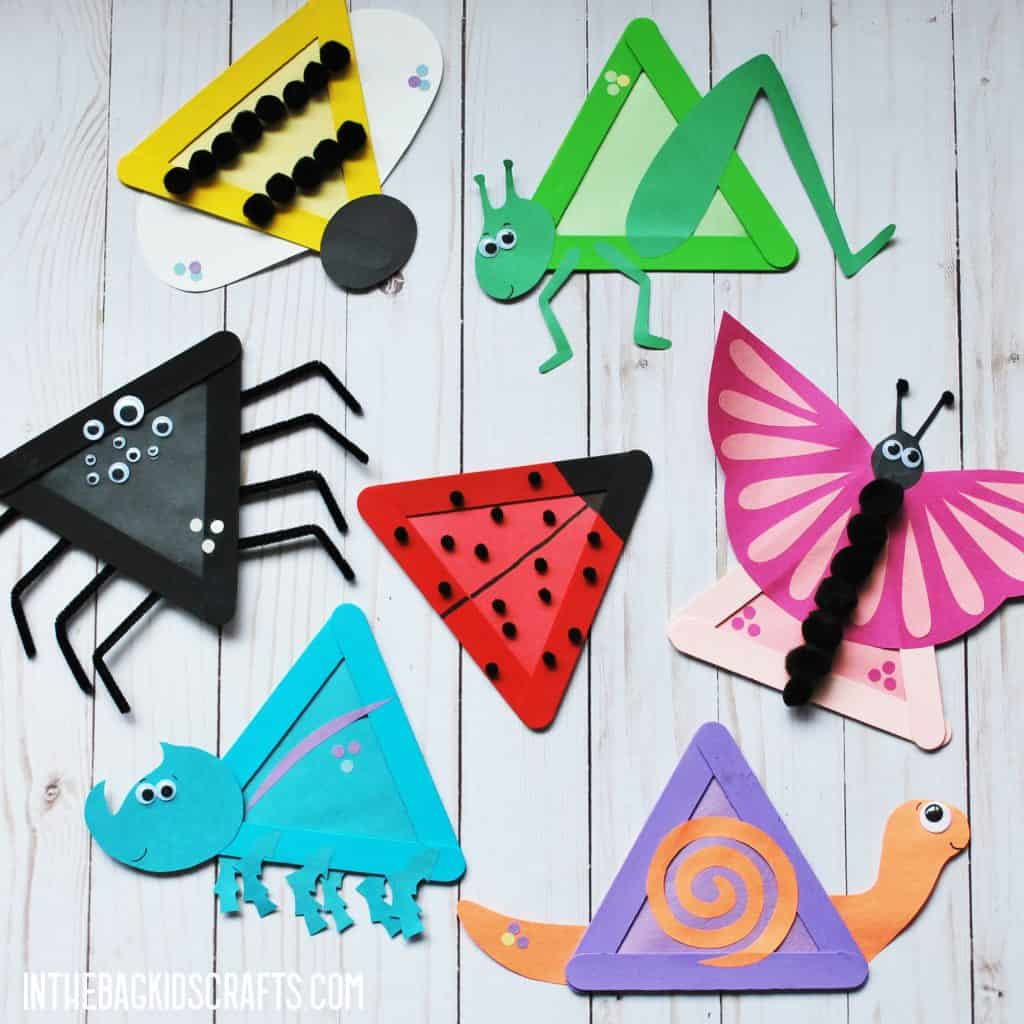 EASY SUMMER CRAFTS FOR KIDS INSECTS