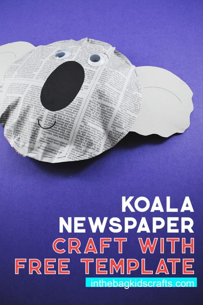 KOALA NEWSPAPER CRAFT