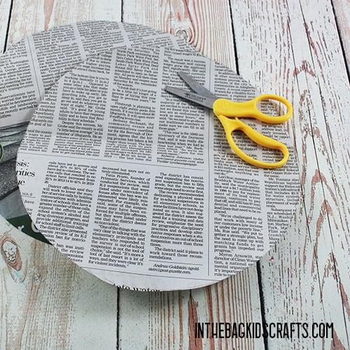 KOALA NEWSPAPER CRAFT STEP 1B