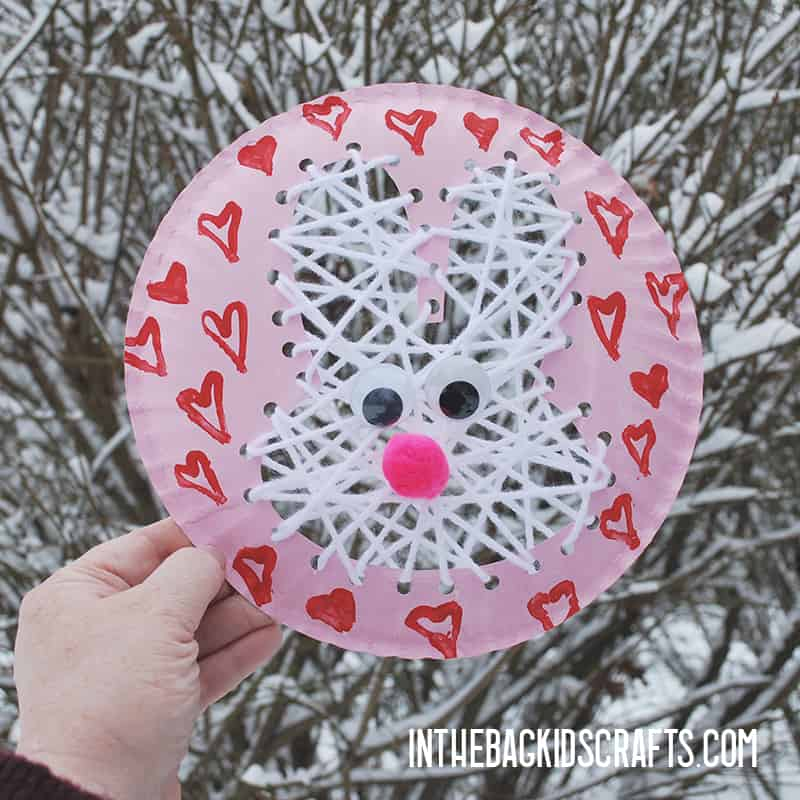 VALENTINE CRAFTS FOR KIDS LACING BUNNY