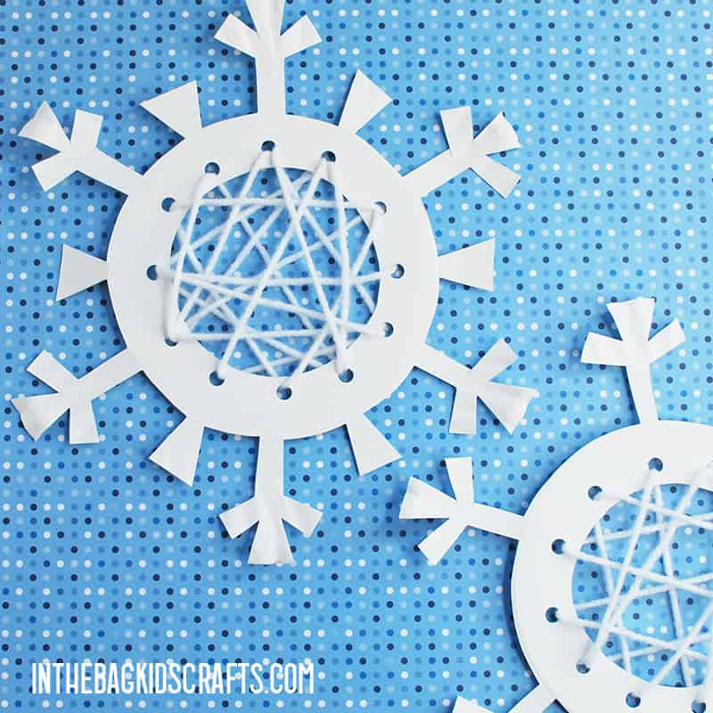 LACING ACTIVITIES SNOWFLAKES
