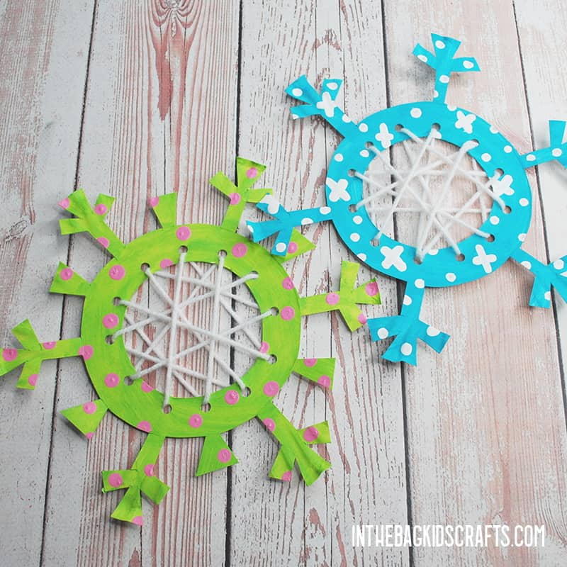 SNOWFLAKE PAPER CRAFTS PAINTED
