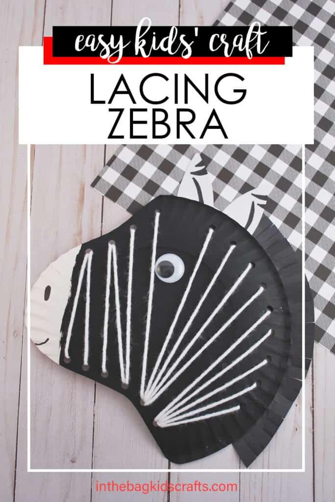 LACING ZEBRA CRAFT FOR KIDS