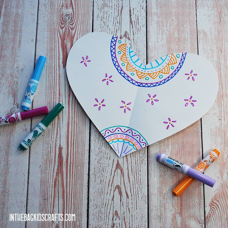 PAPER HEARTS CRAFT STEP 2