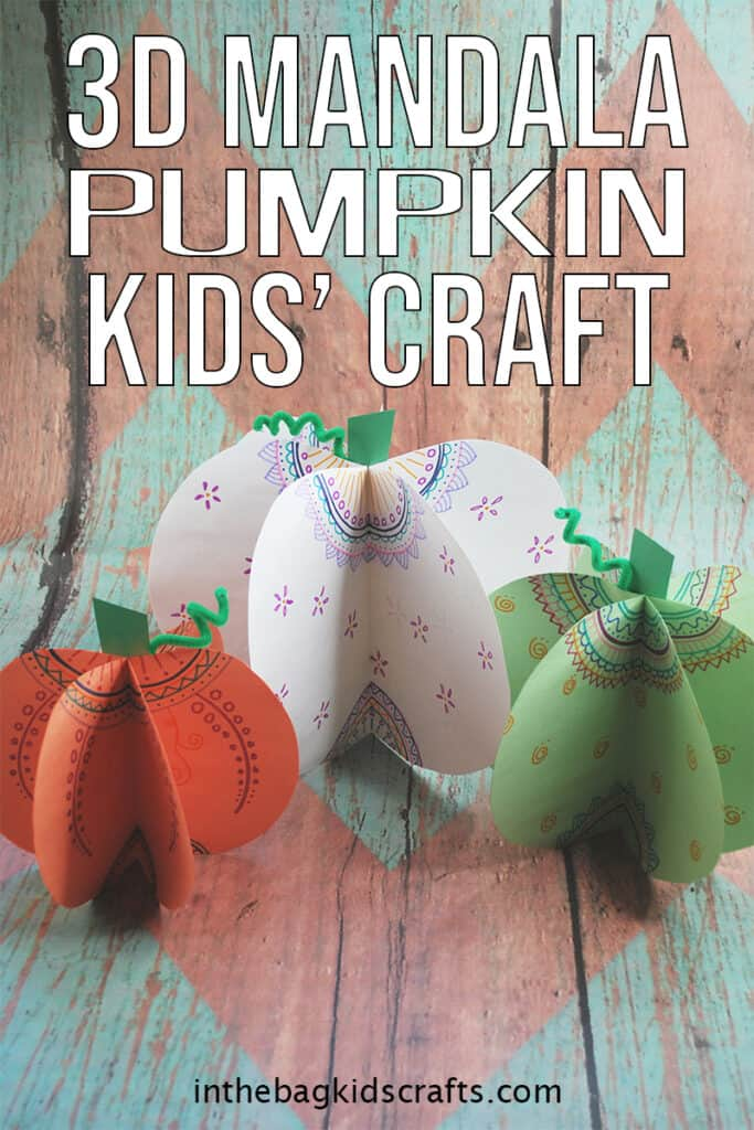 3D DIY PAPER PUMPKINS FOR KIDS