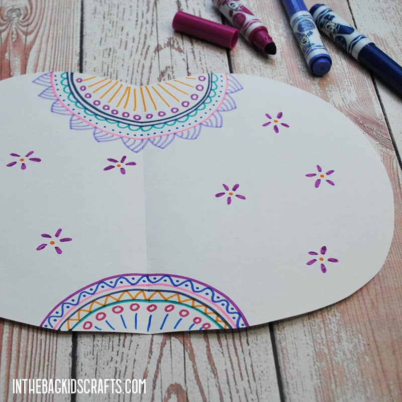 3D DIY PAPER PUMPKINS WITH MANDALA ART STEP 2