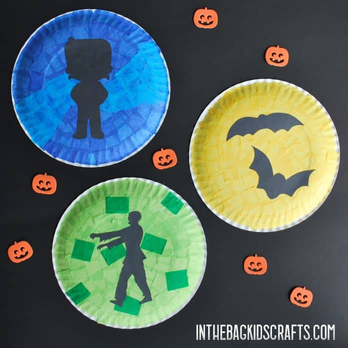 BEST HALLOWEEN KIDS CRAFTS MONSTER SILHOUETTES