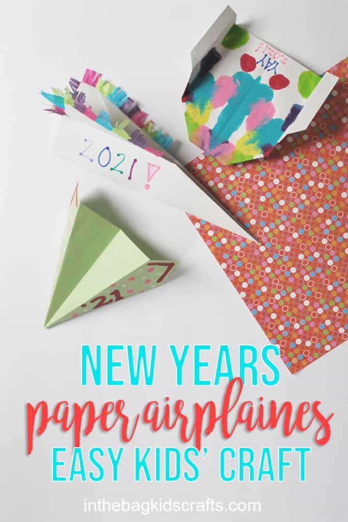 NEW YEARS CRAFT PAPER AIRPLANES