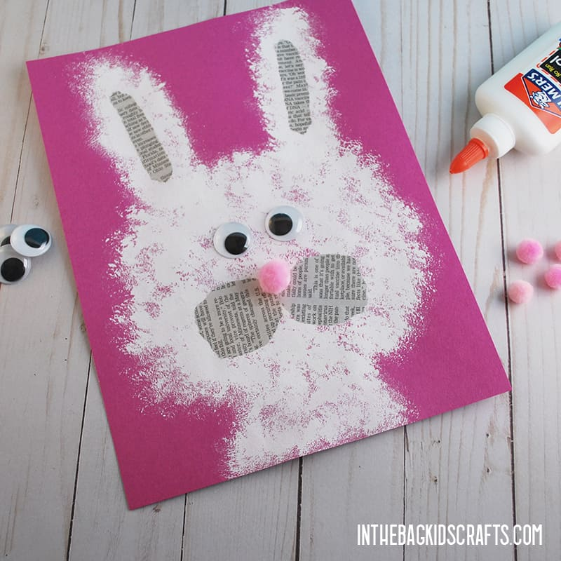 EASY PAPER BUNNY CRAFT STEP 3