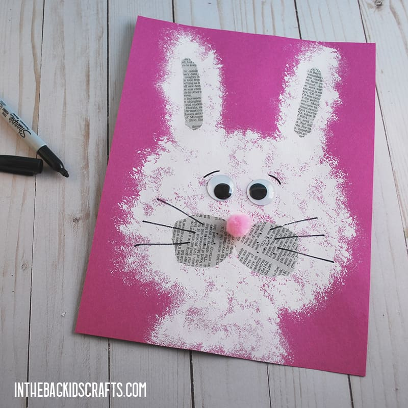 EASY PAPER BUNNY CRAFT STEP 4