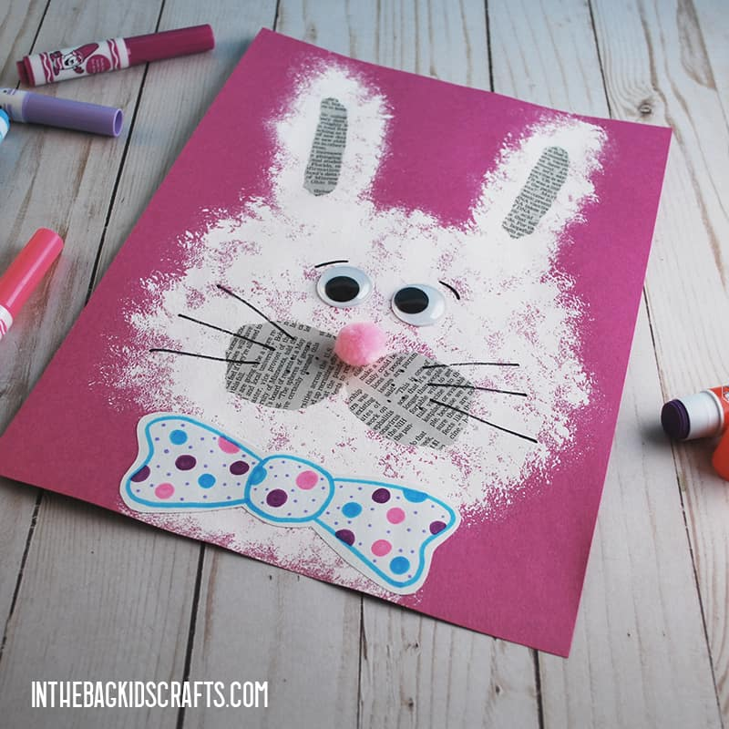 EASY PAPER BUNNY CRAFT STEP 5