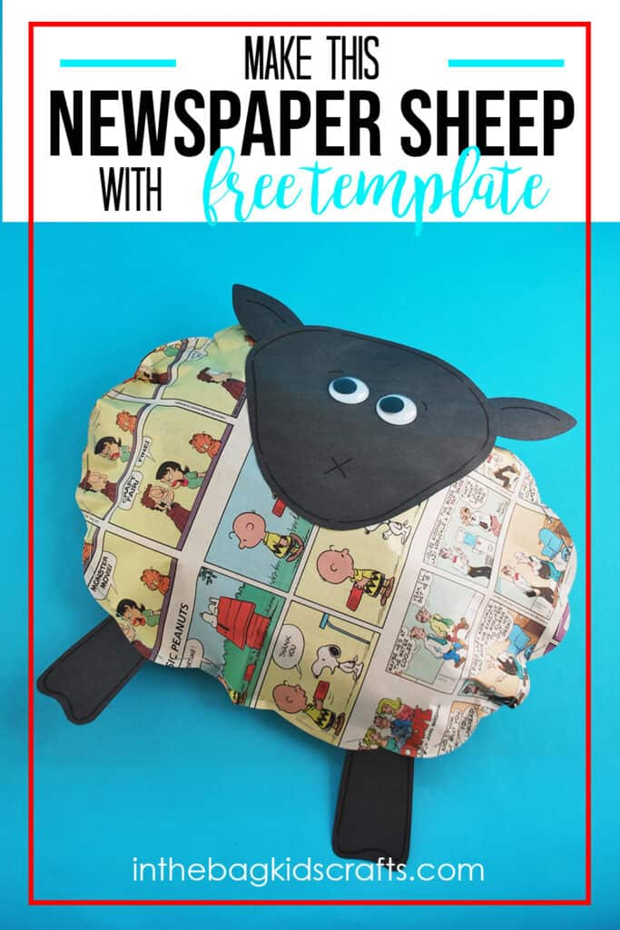 EASY SHEEP CRAFT MADE WITH NEWSPAPER